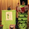 The Bookworm visits schools during Target Tellebration in the Grand Prairie Schools.